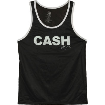 Johnny Cash Women's  Cash Block Womens Tank Black