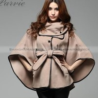 Women Fashion Vintage Casual Trench Coat Cape Cloak Jacket Outwear New WCOT179