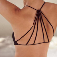 Strappy Backless Bra Halter Top