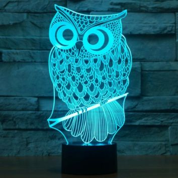 OWL 3D  Lamp 8 Changeable Color [FREE SHIPPING]