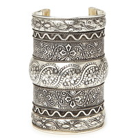 Etched Floral Cuff | Forever 21 - 1000222347