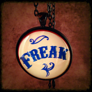 Freak Show Sideshow Carival Circus Pendant Necklace