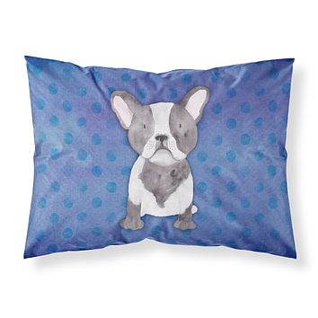 French Bulldog Polkadot Watercolor Fabric Standard Pillowcase BB7394PILLOWCASE