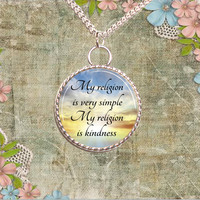 My Religion Is Kindness Necklace