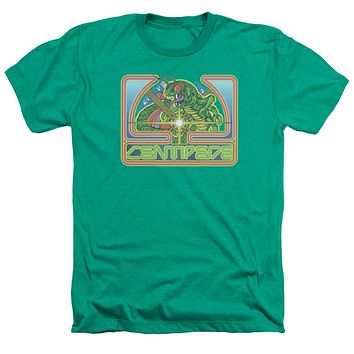 Atari Heather T-Shirt Centipede Retro Game Kelly Green Tee