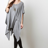 Short Sleeve Poncho Top