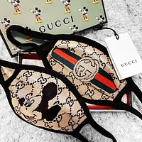 Gucci Masks Burberry Masks Comfortable Breathable Mickey Plaid Double G Print Masks