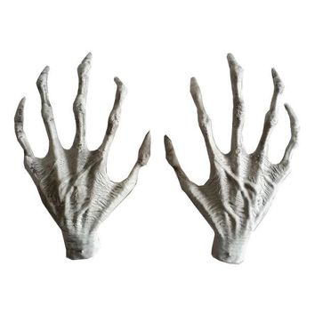 DKF4S Halloween Plastic Skeleton Hands Witch Hands Haunted House Escape horror props Decorations
