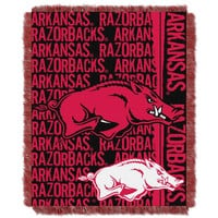 Arkansas Razorbacks NCAA Triple Woven Jacquard Throw (Double Play Series) (48x60)