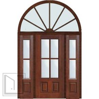 Prehung French Sidelights-Transom Door 803/4 Lite 4 Lite