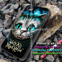 Chesire Cats Smile iphone case, iphone 4/4S, iphone 5/5S, iphone 5c, samsung s3 i9300, samsung s4 i9500, design accesories