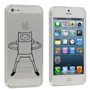 Adventure Time Finn Clear iPhone 5 Case by fjoll on Etsy