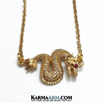 NECKLACE Dragon | Gold Chain Necklace