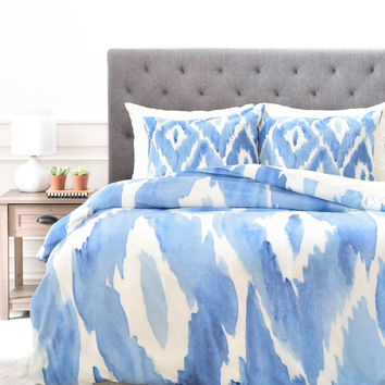 Natalie Baca Painterly Ikat in Indigo Duvet Cover