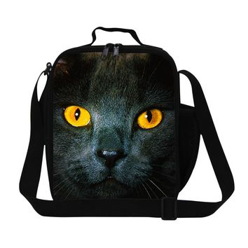Fashion Thermal Lunch Bags 3D Animal Print Lunch Box Cat And Mouse Children Picnic Bag Lancheira Termica Students Kids Food Bags