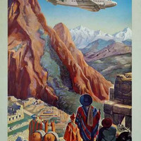 Peru Land of the Incas Travel Ad Poster 11x17