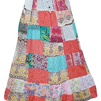 Women's Vintage Patchwork Skirt Colorful Gypsy Summer Maxi Skirts L: Amazon.ca: Clothing & Accessories