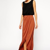 ASOS Wrap Maxi Skirt in Crepe
