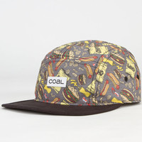 Coal The Snack Attack Mens 5 Panel Hat Charcoal One Size For Men 23061311001