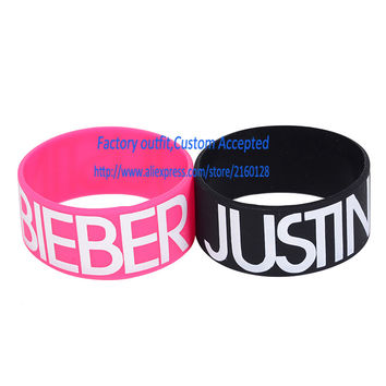 Justin Bieber Wristband Bracelet for Fans with Bieber Fever Beliebers Too Baby 30MM Width