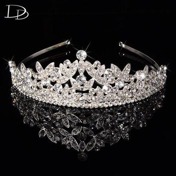 DCCKFV3 luxury Austrian crystal tiara jewelry for women bridal diadem princess crown wedding hair accessories tocados para novias HF031