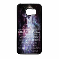 Gandalf The Hobbit Quotes On Galaxy Samsung Galaxy S6 Case