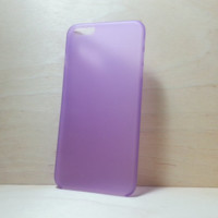 0.3 mm Super Slim Hard Plastic Case for iphone 6 Plus (5.5 inches) - Frosted Purple