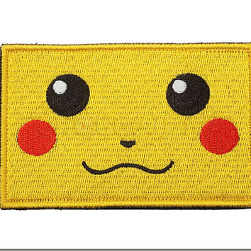 "Pokemon Pikachu Tactical Airsoft paintball Velcro Patch Molle 3""X2"" Funny Yellow"