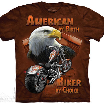 American By Birth Biker By Choice Tee