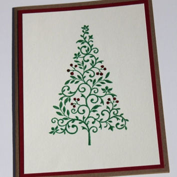 Christmas Tree Cards, Set of 12