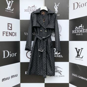 Top Gift New LV Louis Vuitton Women's Warm Double Breasted Long Trench Parka Coat Suit jacket