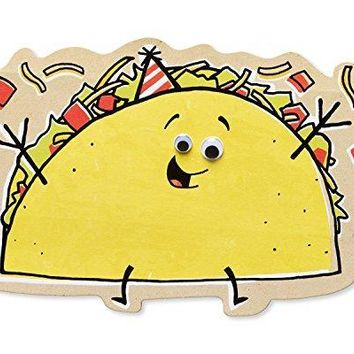 American Greetings Funny Taco Birthday Card with Googly Eyes - Funny Greeting Cards - Free Shpping