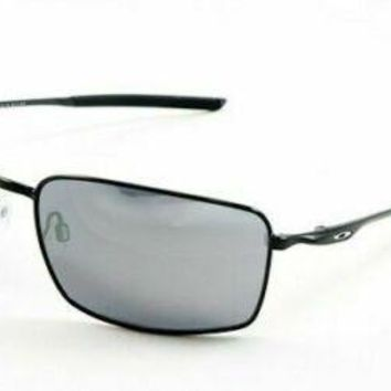 6e19842021 Oakley Square Wire Sunglasses OO4075-01 Polished Black   Black I