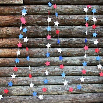 4th of July Paper Garlands, DIY Patriotic Holidays Decorations