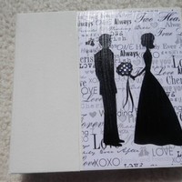 6x6 Classic Black and White Wedding Scrapbook Photo Album