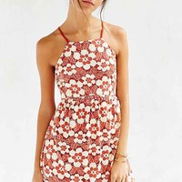 Cooperative Daisy Lace High-Neck Dress