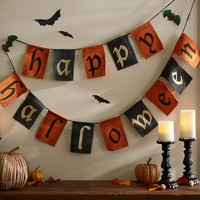 OUTDOOR HAPPY HALLOWEEN BANNER
