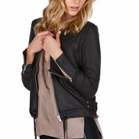 Rock Hard Faux Leather Jacket