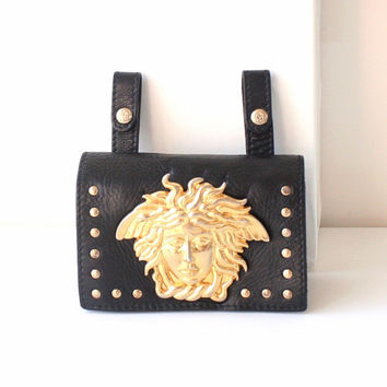 Gianni Versace gold Medusa Waist Bag  belt bag vintage authentic  rare