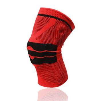 ICIK272 1 Pcs Basketball Knee Pad Sport Safety Football Volleyball Silicone Knee Brace Tape Knee Support Calf  Protection L389