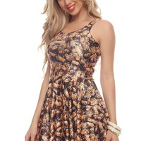 BUMBLE BEES STRETCH SLEEVELESS A-LINE DRESS