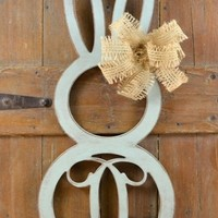 Unfinished Personalized Easter Door Decor