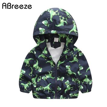 2018 New Spring summer children outerwear & coats casual dinosaur style jackets for boys 2-7Y boys hooded clothes jackets CQ061