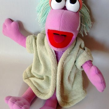 Mokey Fraggle Rock Softies Doll Plush 1985 Hasbro Henson
