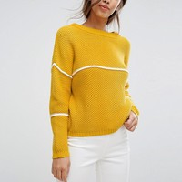 Vila Stripe Knitted Jumper at asos.com