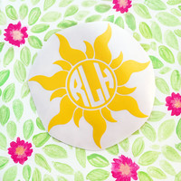Yellow Sun Monogram Decal - Monogram Decal - Tangled Decal - Disney Decal - Disney Monogram Decal - Car Decal - Laptop Decal - Vinyl Decal