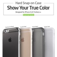 iPhone 6 Case, ESR® Essential Series Protective Case Bumper[360° Protection] [Scratch-Resistant] [Perfect Fit] Hard Clear Back Cover [Matte Exterior] Snap-on Case for 4.7 inches iPhone 6 (Matte Clear)