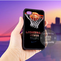 Nike Basketball Never Stop case for iPhone 5/5s/5c/4/4s/6/6+,iPod 4th 5th,Samsung Galaxy S3/S4/S5,Note 2/3,HTC One,LG Nexus