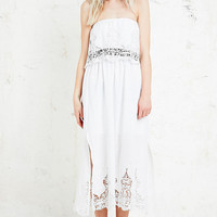 Little White Lies Jamie Midi Dress in White - Urban Outfitters