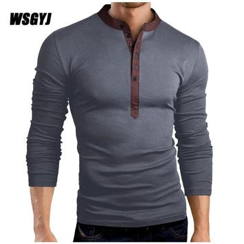 T Shirt Men Brand 2017 Fashion Men'S Hooded Solid Color Stand Tops & Tees T Shirt Men Long Sleeve Slim Male Tops Plus Size 3XL